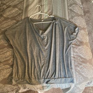 Gray Lucy Workout Top